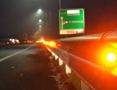 SU A58-TEEM 2.000 LED E 52 SENSORI GUIDANO GLI AUTOMOBILISTI IN CASO DI NEBBIA O FOSCHIA