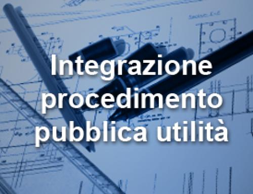 Integrazione procedimento pubblica utilità – 06.02.2015